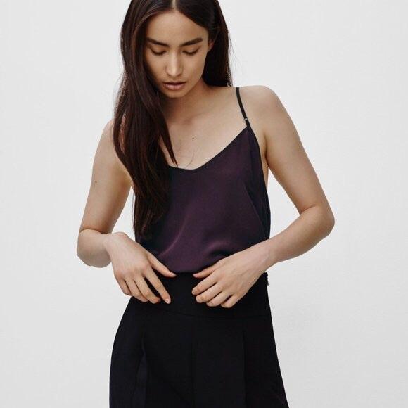 Aritzia Wilfred blouse in purple